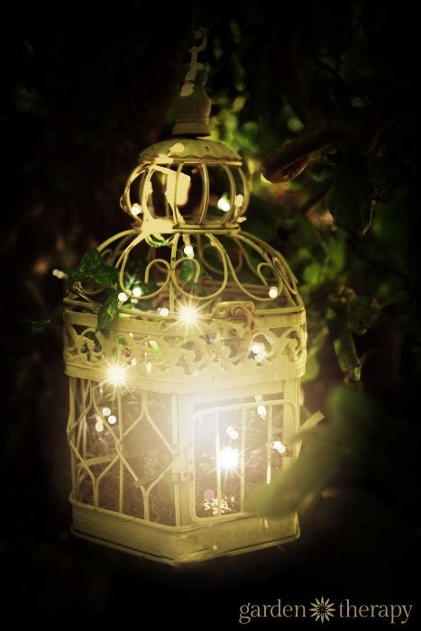birdcage outdoor garden light  warm white string