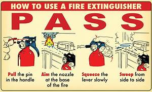 How To Use A Fire Extinguisher Step By Step