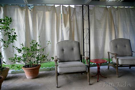 Inexpensive Patio Curtain Ideas by Inexpensive Diy Outdoor Patio Drop Cloth Curtains