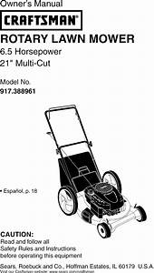 Craftsman 917388961 User Manual Rotary Mower Manuals And