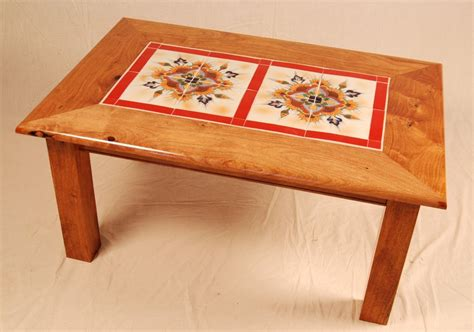 mexican tile coffee table hand made mesquite red tile table by mcnitt bros wood