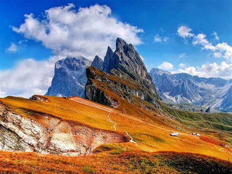 trentino lugares dolomites mountains  italy photo