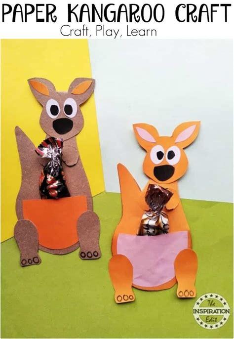 kids paper kangaroo craft activity  inspiration edit