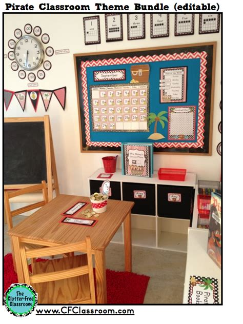 Pirate Themed Classroom Photos, Printables & Ideas For