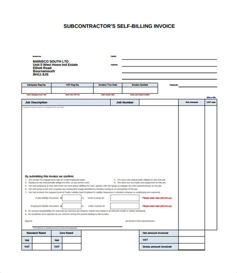 billing invoice samples sample templates