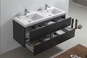 meuble vasque hotel duo 120 meuble salle de bain With porte d entrée pvc avec meuble salle de bain 2 vasques 120