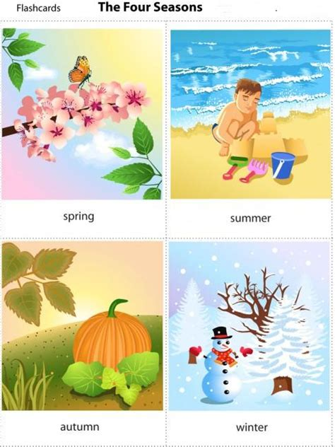 mevsimler flash kart