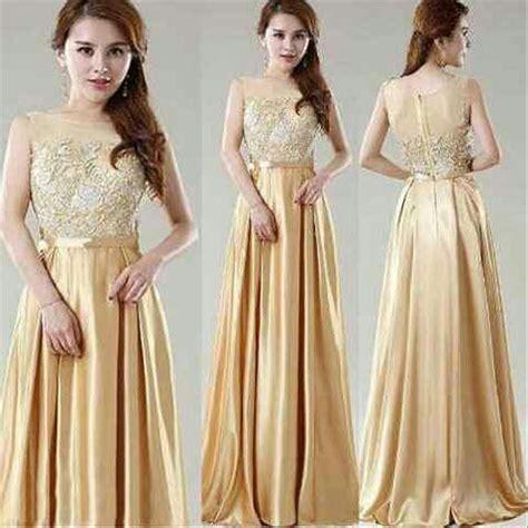 jual ij elegant gold pakaian wanita dress model baju