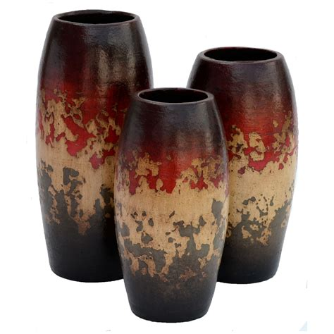 camino red vases set