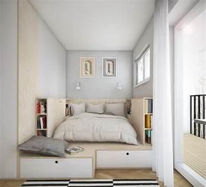 Lit Petit Espace : am nagement petite chambre utilisation optimale de l ~ Premium-room.com Idées de Décoration