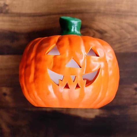 Thrift Store Halloween Decor: Ceramic Pumpkin Makeover
