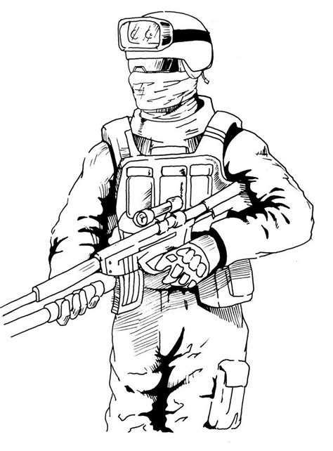 high detailed graphic call  duty coloring picture