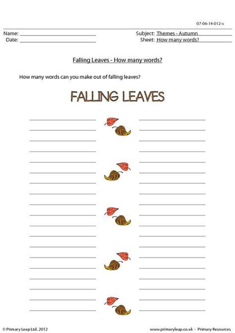 autumn word unscramble falling leaves
