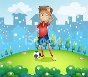 Tired Soccer Player AT The Top of Hill Stock Vector ...