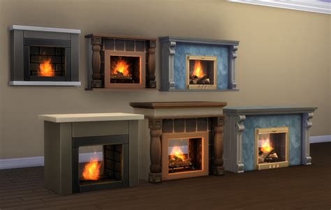 two sided fireplace mod the sims 2 sided and adjustable height wall fireplaces