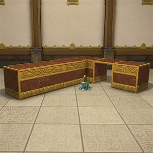Gold Saucer Corner Counter FFXIV Housing - Table