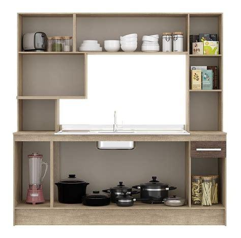 Mueble Kit Cocina Compacta Napoles + Pileta Acero