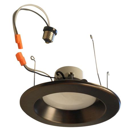 bronze led recessed lighting commercial electric 6 in bronze led recessed gimbal trim
