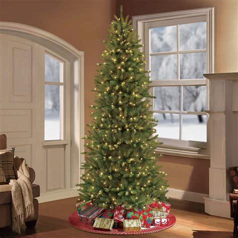 narrow christmas trees artificial puleo 7 5 ft pre lit slim fraser fir artificial christmas 1896