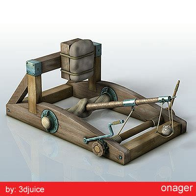 siege machines siege weapons 3d model