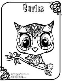 cute halloween owl coloring pages owl doodle art coloring pages - Cute Halloween Owl Coloring Pages