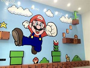 Super Mario Deko : mega tolle und aufw ndige super mario wanddeko ~ Frokenaadalensverden.com Haus und Dekorationen