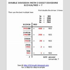 How To Do Long Division Step By Step? Double Division With 3 Digit Divisors 612416983