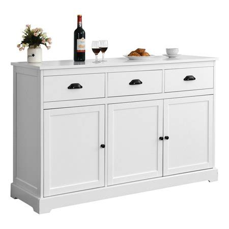 gymax  drawers sideboard buffet cabinet console table