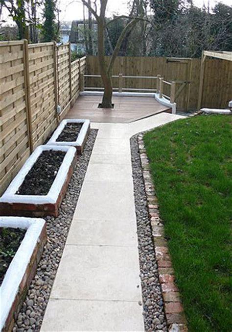 garden landscaping decking pergola stairway paving