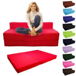 fold out foam guest z bed chair folding mattress sofa bed futon sofabed ebay