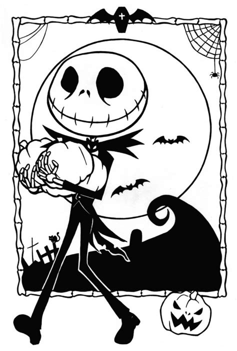 printable nightmare  christmas coloring pages