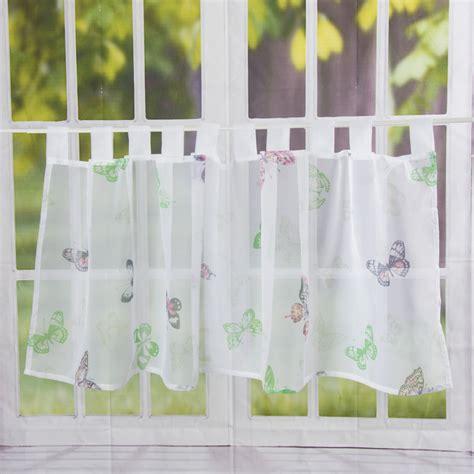 dekoschals mit kräuselband gardinen mit schmetterlingen gardinen mit blumen und
