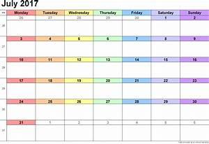 july 2017 calendar printable july 2017 calendar template With calendar templats