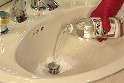 bathroom clogged sink drain natural way to solve clogged