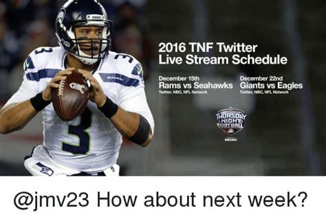 tnf twitter  stream schedule december