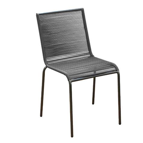 chaise de jardin polo en acier et fil de r 233 sine tendue