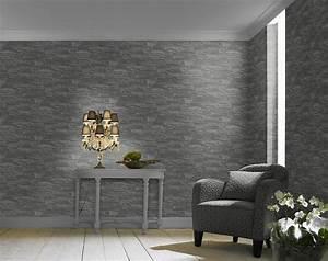 vliestapete stein grau schwarz factory rasch 475029 With balkon teppich mit wohnzimmer tapete steinoptik