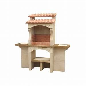 barbecue exterieur en pierre traditionnel en brique With barbecue en dur exterieur