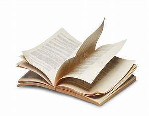Open Book Flying On Blue Sky Stock Image - Image of ...
