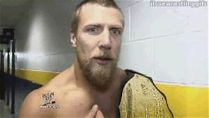 Daniel Bryan winks at the camera - I Love Wrestling Gifs