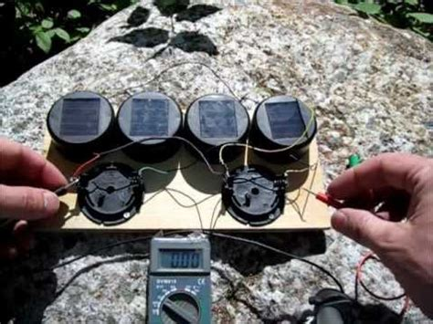 diy solar garden light hack solar battery charger youtube