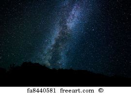 Free Art Print Stars The Night Sky Milky Way Galaxy