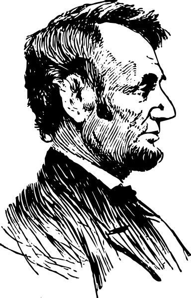Abraham Lincoln Profile Clip Art at Clker.com - vector