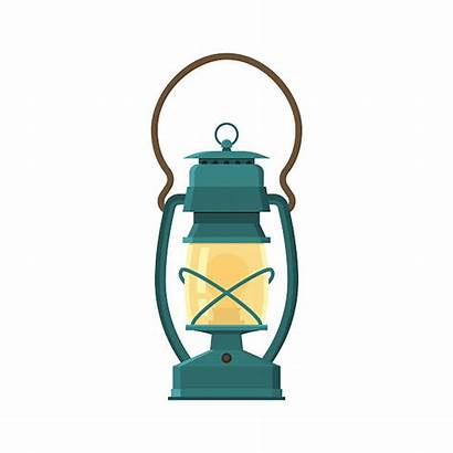 Lamp Lantern Gas Camping Clipart Vector Oil