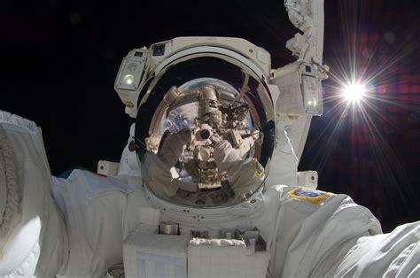 space astronaut selfies  shots reflection