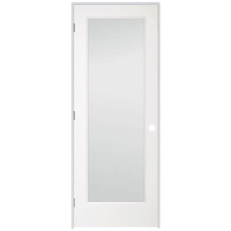 Depot Glass Doors Interior by 1 Lite Clear Glass Pine Primed White Prehung Interior Door