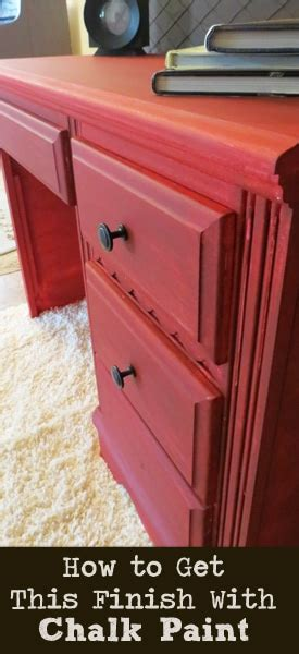painted furniture ideas red chalk paint  black glaze