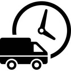 gratis logo design logistik lieferwagen und uhr der kostenlosen icons