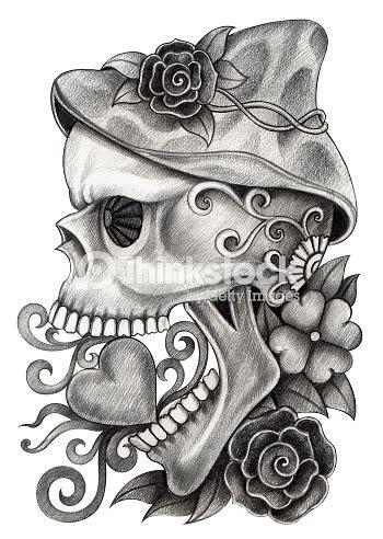 Skull Art Day The Dead Stock Illustration Thinkstock