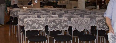 lace for wedding chaircovers saanich victoria